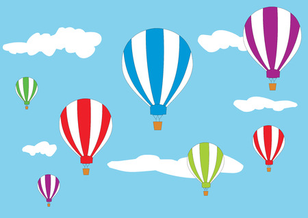 ballon dirigeable: Les ballons � air chaud dans le ciel