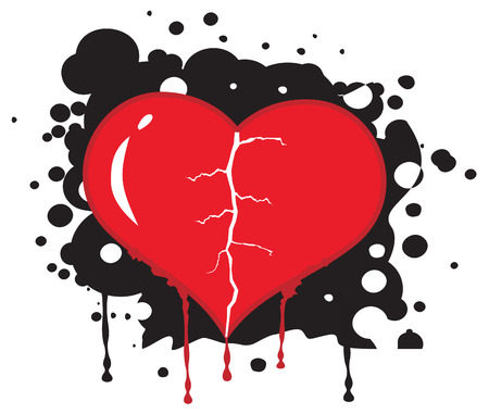 Broken heart abstract background. Vector illustration Stock Vector - 2409594