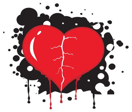 Broken heart abstract background. Vector illustration Vector