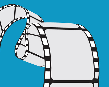 Isolated film strip. Vector illustration