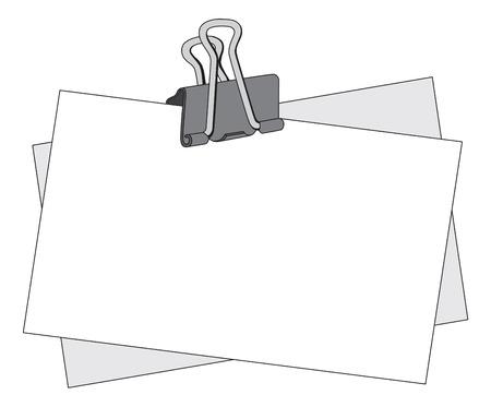 Mensaje nota con un clip de metal negro  Ilustración de vector