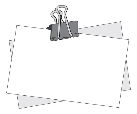 Message note with a black metal clip