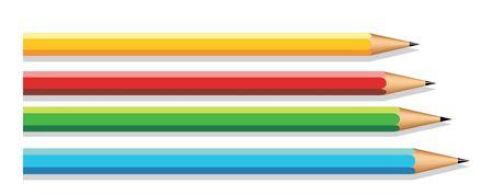 Set of color pencils. Vector illustration illustration