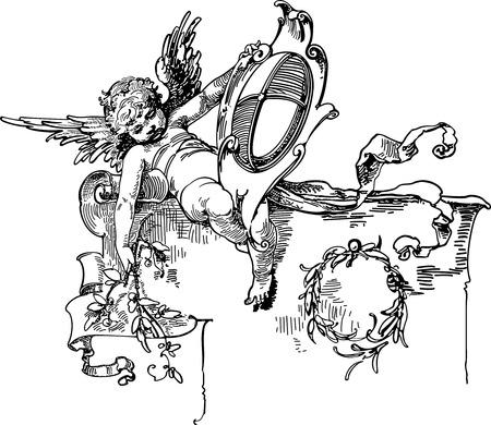 angel in heaven Illustration