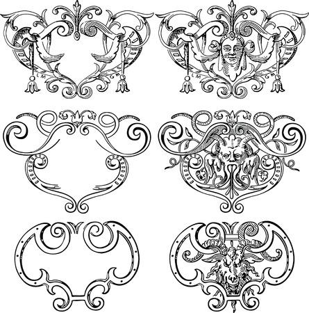 floral & metallic design elements Stock Vector - 2432781