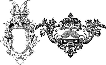 crocket: floral frame Illustration