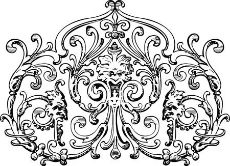 crocket: floral & metallic design element
