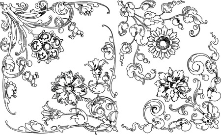 floral design elements Stock Vector - 2432782