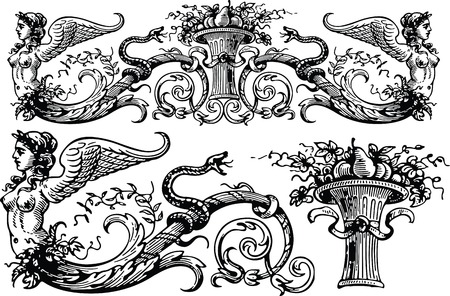 crocket: design elements Illustration