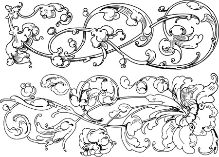 bloemen ontwerp elementen Stock Illustratie