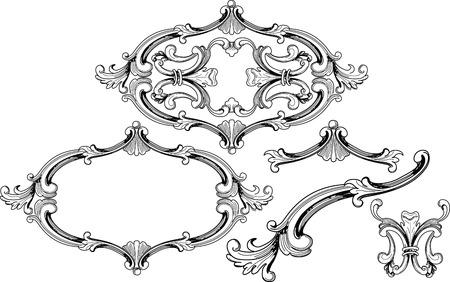floral design elementen Stock Illustratie
