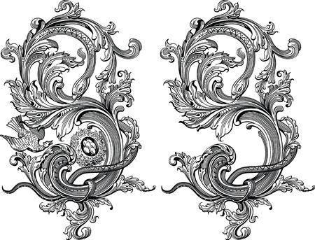 elegant vector: elementi di design floreale  Vettoriali