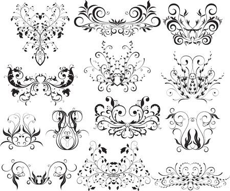 floral design element set Illustration