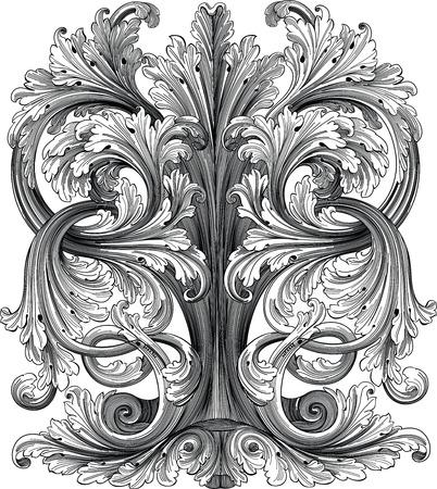 crocket: floral design element Illustration