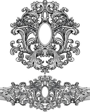 crocket: elegant design frame Illustration