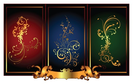 classic backgrounds with frame Vector