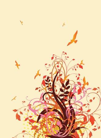 Spring Garden Illustration