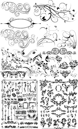 floral design elements Stock Vector - 2706613