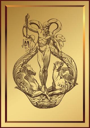 neptun: Mythus-SeaGod Illustration