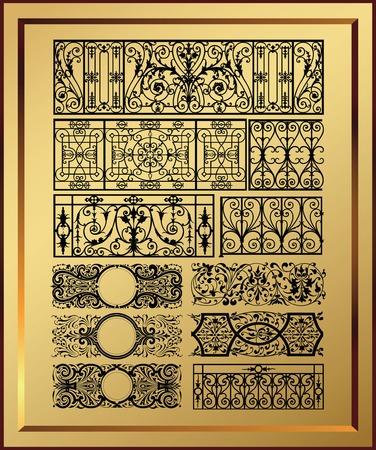 elegante design elementen Stock Illustratie