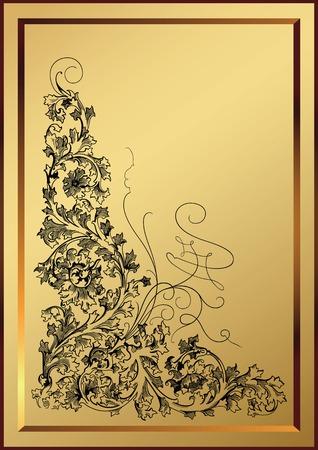 wine list: elegant design elements Illustration