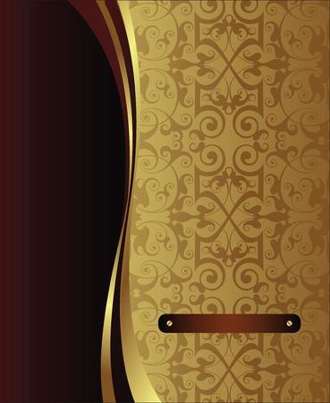 menu card design: elegant background 1-3 Illustration