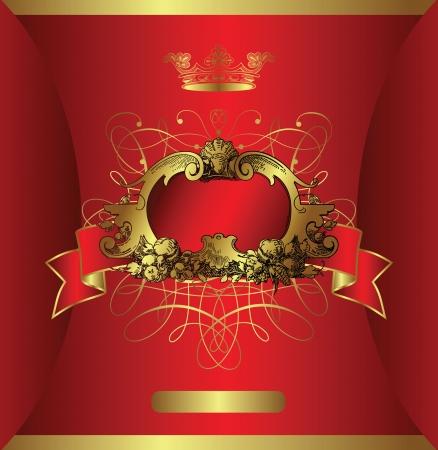 wedding card design: classic background 1-6