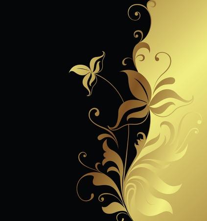 wine book: floral background  Illustration