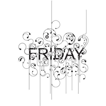 weekday: Friday Illustration