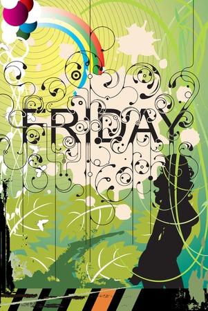 Beautiful Friday Illustration