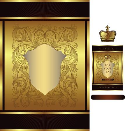 paper textures: royal design pattern Illustration