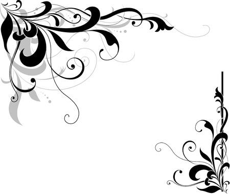 paper textures: floral corner