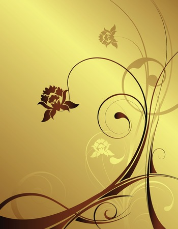 illustation: golden background