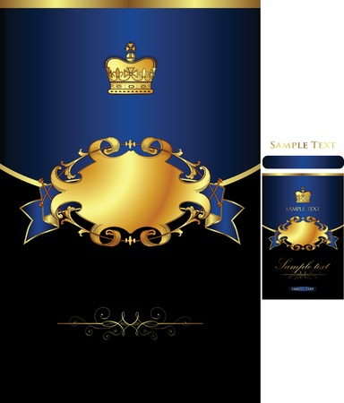golden background with crown 1-2 Illustration