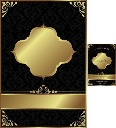gold corner: Vintage Background 1-2 Illustration