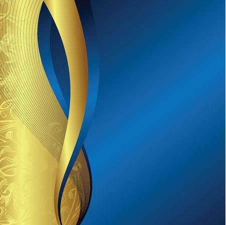 blue metallic background: holiday background Illustration