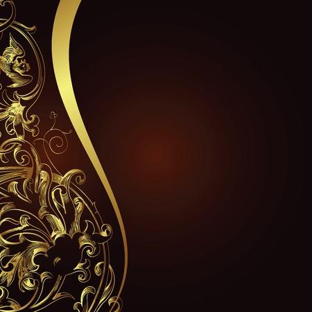 brown pattern: floral design background
