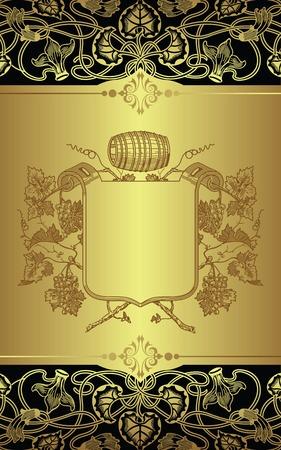 grape wine barrel Vector