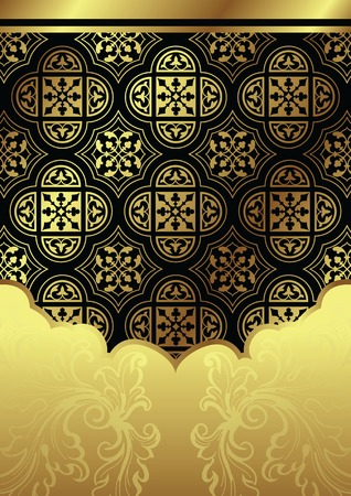 goud floral background Stock Illustratie