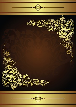 Abstract Floral Frame Background Vectores