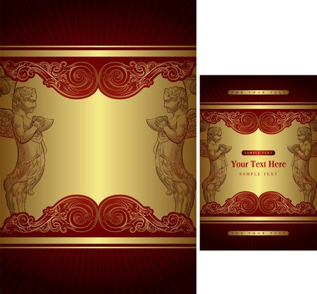 Gift Box Cover Template Vector