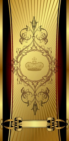 Royal Design Background with Crown Stock Vector - 5829119