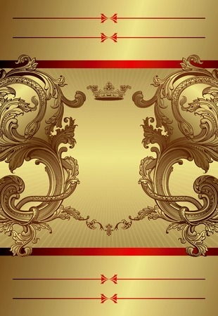 Gold Floral Royal Background Stock Vector - 8030236