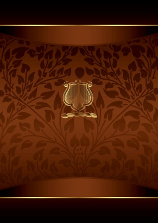Chocolate Floral Background Vector