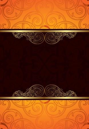 chocolate curls: Elegant Floral Background