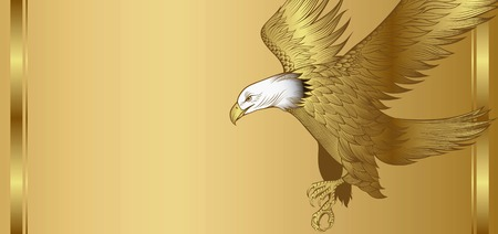 Gold Eagle Background Vectores