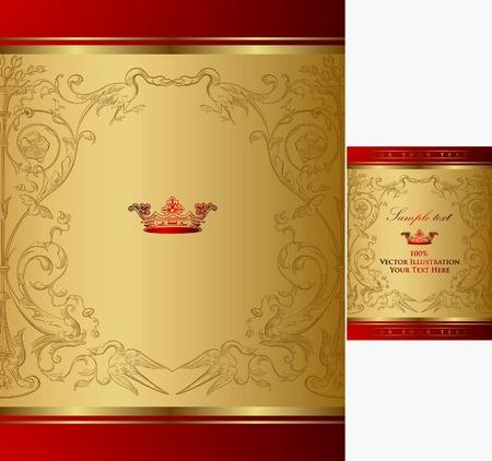 Royal Crown Frame Background 3 Vector