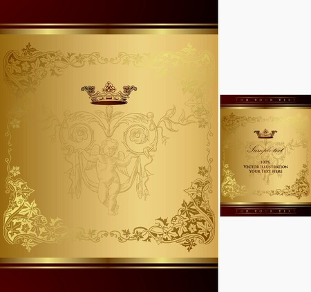 Royal Crown Frame Background 2 Stock Vector - 8159501