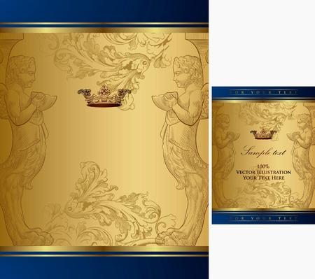 koninklijke kroon: Royal Crown Frame achtergrond 1