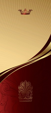Royal Crown Curve Background 2 Vector